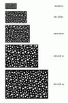 Alfombra Vinílica Color Negro 40x80cm Estrellas