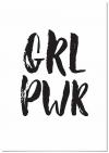 Panorama® Póster Girl Power 21x30cm | Impreso En Papel | Cuadro Frases Positivas De 250gr | Póster Pared | Cuadros Decoración Salón | Cuadros Para Dormitorio | Póster Decorativos