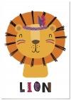 Panorama® Lienzo Infantil Para Habitación Animal León 21x30cm | Impreso En Lienzo Con Bastidor | Cuadros Infantiles | Cuadros Para Habitación Bebés Y Niños | Decoración Habitación Bebé