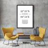 Panorama® Cuadro De Aluminio Coordenadas Ciudad De Amsterdam 70 X 100 Cm | Impreso En Aluminio Dibond De Alta Calidad | Cuadros Para Salón | Cuadros Dormitorio | Láminas Decorativas | Cuadros Modernos