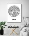 Panorama® Póster Mapa Círculo De Londres 21 X 30 Cm | Impreso En Póster De Alta Calidad De 250gr | Cuadros Decoración Salón | Cuadros Para Dormitorio | Lienzos Decorativos