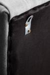 Liso Tela Cabecero De Cama Tapizado Para Camas De 135 (145 X 120 Cm) Tela Gris