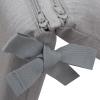 Cojin Para Silla Con Respaldo Chillvert Pacific 92x45x6 Cm Gris Claro Desenfundable - Kan225