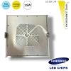 Downlight Cuadrado 25w Led Samsung Smd50630 Plata Natural 4000k