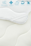 Topper/sobrecolchón Viscoelástico Memory Foam Aloe Vera 150 X 200 X 3 Cm Blanco Vipalia
