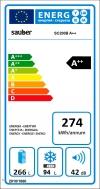 Frigorífico Combi Sauber Sc200b Tecnología Nofrost Multi Cooling - Eficiencia Energética: A++ - 201x59,5 Cm - Color Blanco