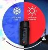 Botella Térmica De Acero Inoxidable Doble Capa . 355ml. Cloen Bottle. Color Negro