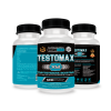 Testomax X12. Potente Booster De Testosterona. Con Maca Andina + Ginseng + Taurina. Potenciador De La Libido Sexual. Aumenta La Masa Muscular Y El Rendimiento Físico. 120 Cápsulas.