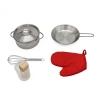 Cocina Infantil De Madera Little Kitchen Outdoor Toys 65x30x93 Cm Blanca Con Accesorios Luces Y Sonidos