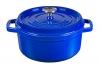 Cocotte Olla De Hierro Fundido Azul 24 Cm Redonda Goumet Tools De Xsquo