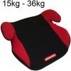 Silla Alzador Infantil Para Coche Elevador Niños 15kg-36kg Homologado R44/04 Rojo- Negro