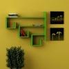 Estante Bean, 122x22x102 Cm, Color Verde