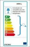 Lámpara De Pared Elit, 30x13x6 Cm, Color Cromo