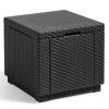 Allibert Puf De Almacenamiento Forma De Cubo Color Grafito 213816
