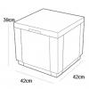 Caja Nevera Ice Cube Capuchino 223761 Allibert