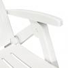 Vidaxl Tumbona Con Reposapiés Plástico Blanca