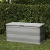 Caja De Almacenamiento De Jardín Gris 117x45x56 Cm Vidaxl
