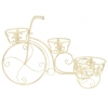 Vidaxl Soporte De Plantas Con Forma De Bicicleta Metal Estilo Vintage
