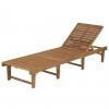 Tumbona Plegable De Madera Maciza De Acacia Vidaxl