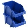 Vidaxl Contenedores Almacenaje Apilables 200x300x130 Mm Azul 50 Uds
