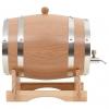 Vidaxl Barril De Vino Con Grifo Roble Macizo 12 L