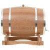 Vidaxl Barril De Vino Con Grifo Roble Macizo 35 L