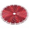 Vidaxl Disco De Corte De Diamante Con Turbo Y Agujeros Acero 230 Mm