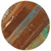 Vidaxl Mesa Auxiliar 45x(45-62) Cm Madera Reciclada Y Hierro Fundido