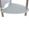 Vidaxl Mesa De Centro De Vidrio Con Diseño Exclusivo Blanca
