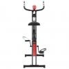 Bicicleta Estática Magnética X Con Pulsómetro Negra Y Roja Vidaxl