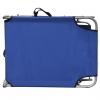 Vidaxl Tumbona Plegable Con Toldo Acero Y Tela Azul