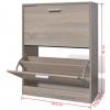 Vidaxl Mueble Zapatero Color Roble Con 2 Compartimentos