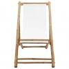 Vidaxl Silla De Jardín De Bambú Y Lona