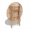 Vidaxl Juego De Comedor De Jardín Plegable 5 Piezas De Bambú