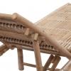Vidaxl Tumbona De Bambú