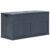 Caja De Almacenamiento De Jardín 320 L Negro Vidaxl