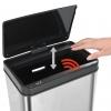 Papelera Sensor Automático Acero Inoxidable Plata Y Negro 80 L Vidaxl