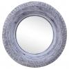 Vidaxl Espejo De Caucho De Neumático Reciclado Blanco 50 Cm