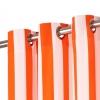 Vidaxl Cortinas Y Aros De Metal 2 Pzas Tela Naranja A Rayas 140x175 Cm