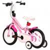Bicicleta Para Niños 12 Pulgadas Blanco Y Rosa Vidaxl