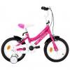 Vidaxl Bicicleta Para Niños 14 Pulgadas Negro Y Rosa