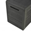 Vidaxl Caja De Almacenamiento De Jardín Gris Antracita 116x44x55 Cm