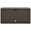 Vidaxl Caja De Almacenamiento De Jardín Marrón 114x47x60 Cm