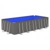 Piscina Con Estructura De Acero Antracita 540x270x122 Cm Vidaxl