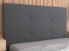 La Web Del Colchon -cabecero Tapizado Atenas Para Cama De 120 (130 X 120 Cms) Gris Oscuro Textil Suave
