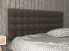 La Web Del Colchon -cabecero Tapizado Brigitte Para Cama De 105 (115 X 115 Cms) Marron Claro Textil Suave