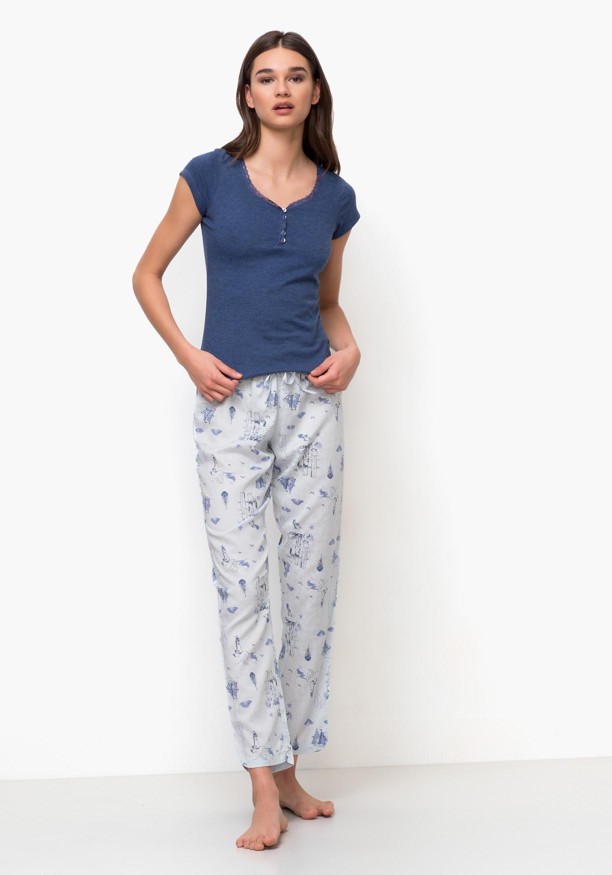 11a93d42a Comprar Pijama de mujer con pantalón largo y manga corta TEX ...