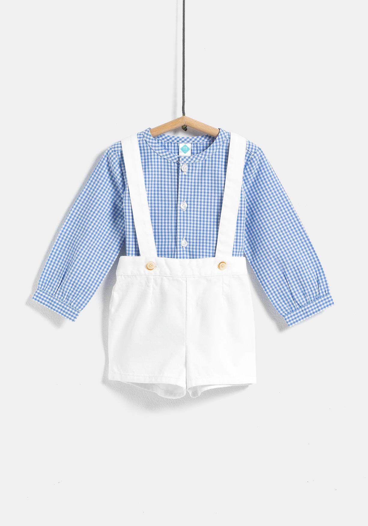 34079c4ed Comprar Conjunto de camisa y pantalón corto de tirantes TEX ...