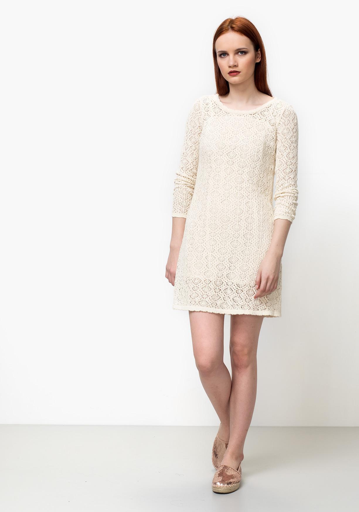 Comprar Vestido De Mujer Con Manga Larga De Crochet Tex