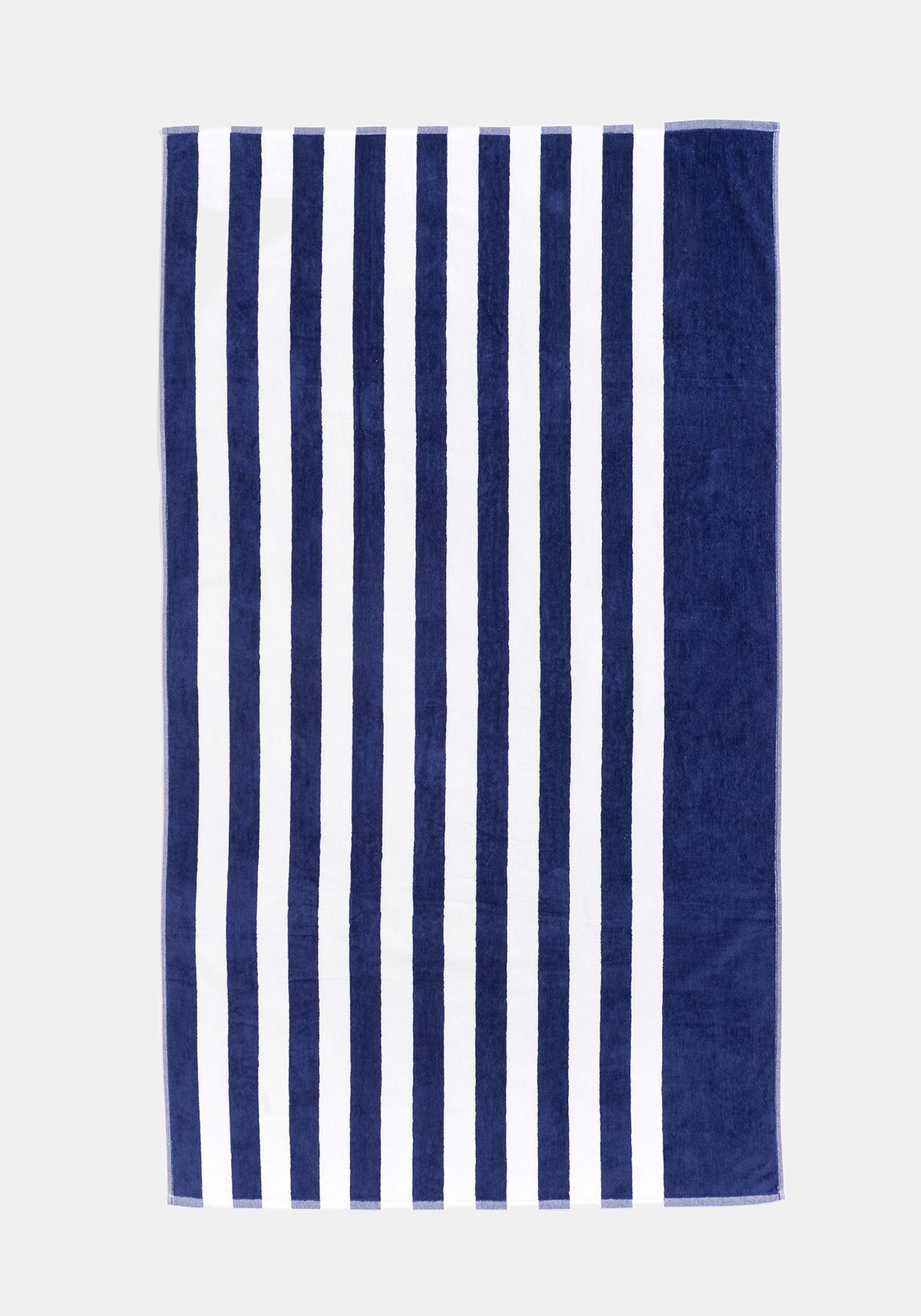 9188a149b2ef Comprar Toalla de Playa Jacquard de Rayas TEX 100x180 cm Azul ...
